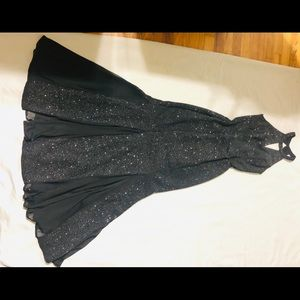 Nightway Elegant Shiny Black Long Dress, Sz.4